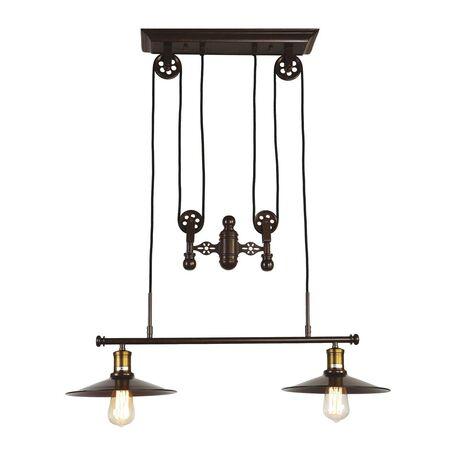 Подвесной светильник Favourite Winch 1762-2P, 2xE27x60W, бронза, коричневый, металл