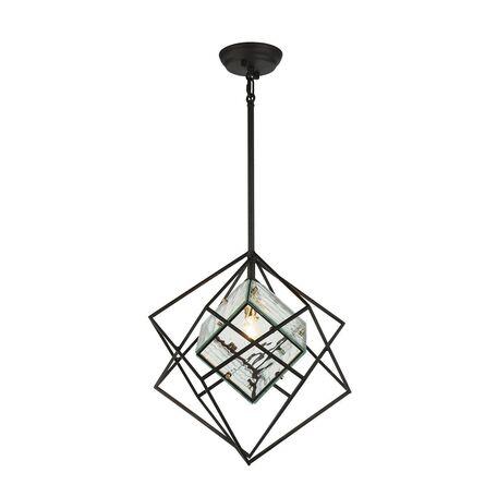 Подвесной светильник Favourite Versatile 1908-1P, 1xE14x40W, черный, прозрачный, металл, металл со стеклом