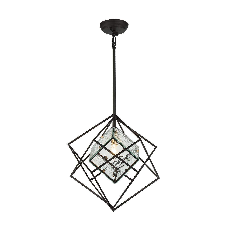 Подвесной светильник Favourite Versatile 1908-1P, 1xE14x40W, черный, прозрачный, металл, металл со стеклом - фото 1