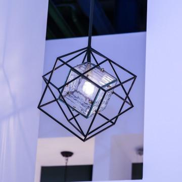 Подвесной светильник Favourite Versatile 1908-1P, 1xE14x40W, черный, прозрачный, металл, металл со стеклом - миниатюра 3