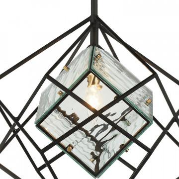 Подвесной светильник Favourite Versatile 1908-1P, 1xE14x40W, черный, прозрачный, металл, металл со стеклом - миниатюра 5