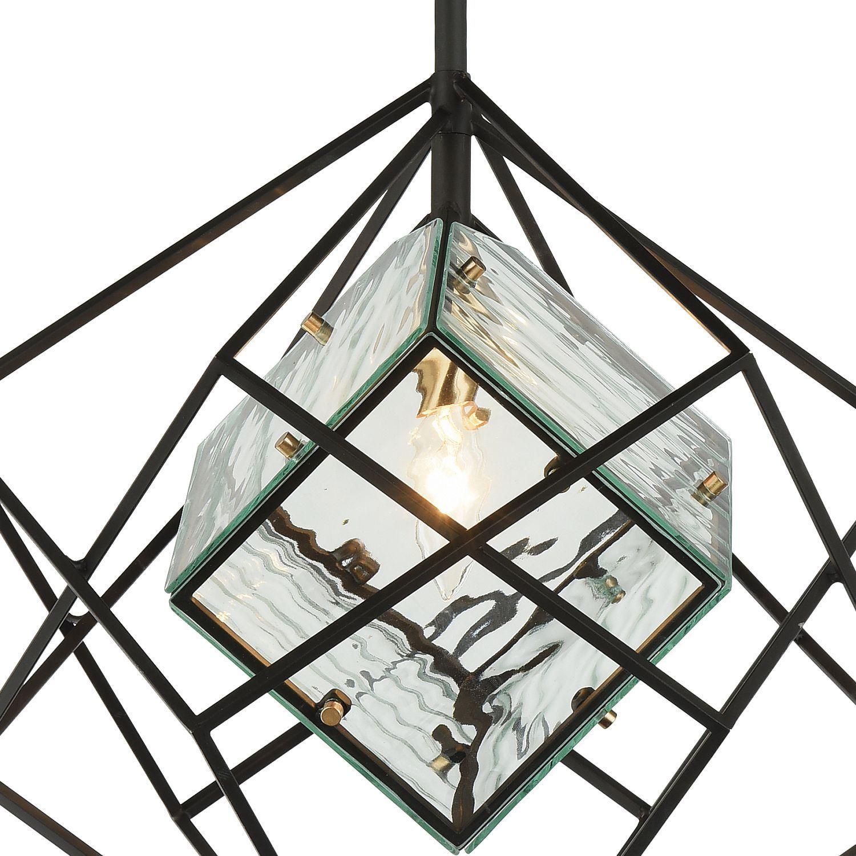 Подвесной светильник Favourite Versatile 1908-1P, 1xE14x40W, черный, прозрачный, металл, металл со стеклом - фото 5