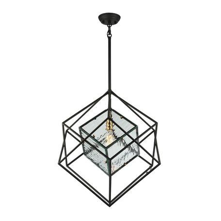 Подвесной светильник Favourite Versatile 1909-1P, 1xE27x60W, черный, металл, металл со стеклом - миниатюра 1