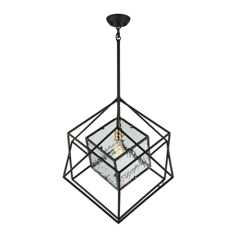 Подвесной светильник Favourite Versatile 1909-1P, 1xE27x60W, черный, металл, металл со стеклом - фото 1