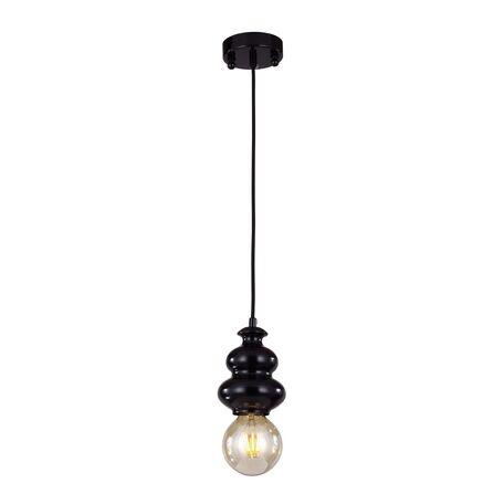 Подвесной светильник Favourite F-Promo Bibili 1682-1P, 1xE27x40W, черный, металл