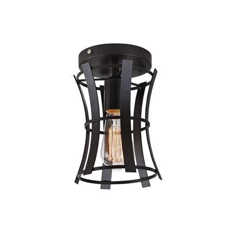 Потолочный светильник Favourite Werk 1521-1U, 1xE27x40W, черный, металл, ковка