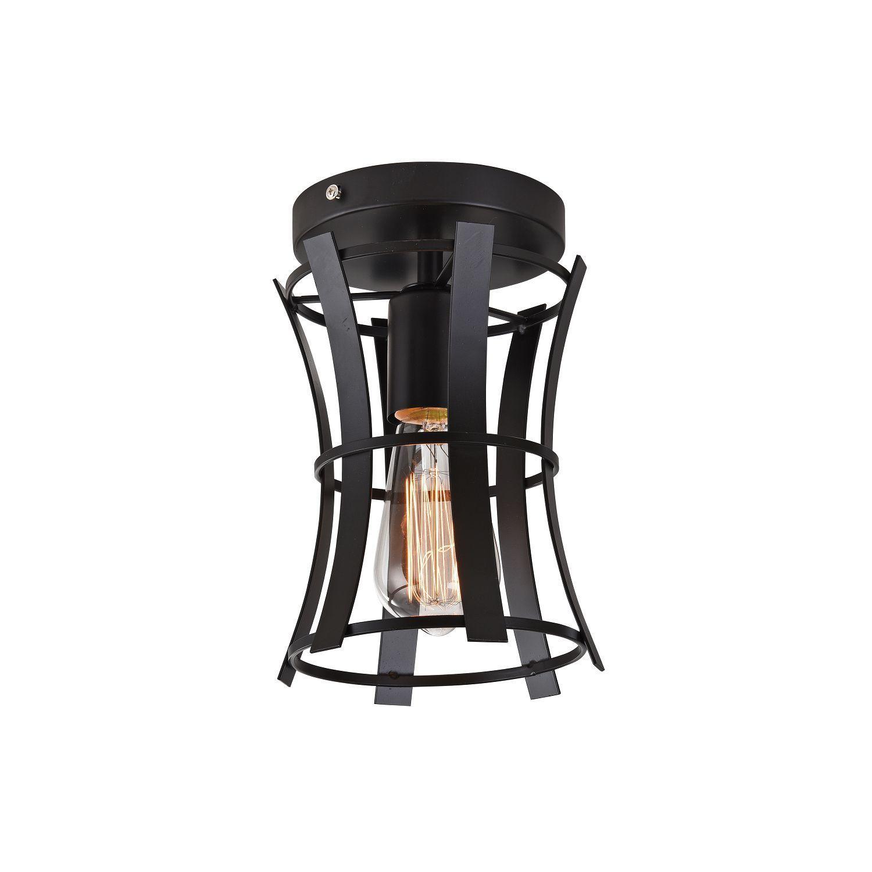 Потолочный светильник Favourite Werk 1521-1U, 1xE27x40W, черный, металл, ковка - фото 1