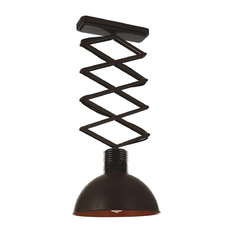 Потолочный светильник на складной штанге Favourite Bellows 1761-1U, 1xE27x60W, коричневый, металл - фото 1