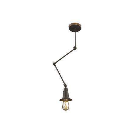 Потолочный светильник с регулировкой направления света на складной штанге Favourite Spider 1476-1P, 1xE27x60W, коричневый, металл