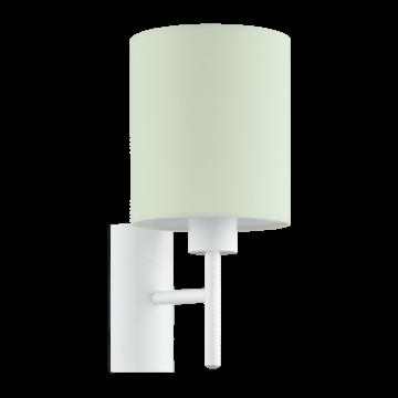 Бра Eglo Pasteri-P 97381, 1xE27x60W, белый, зеленый, металл, текстиль