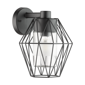 Бра Eglo Canove 97226, IP44, 1xE27x60W, черный, прозрачный, металл