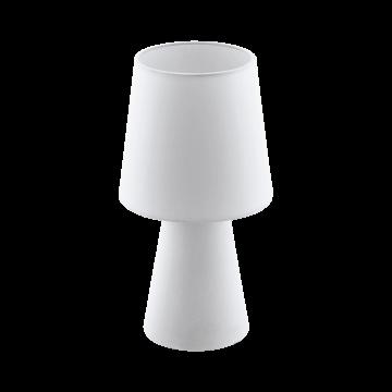 Настольная лампа Eglo Carpara 97121, 2xE14x5,5W, белый, текстиль