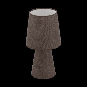 Настольная лампа Eglo Carpara 97123, 2xE14x5,5W, коричневый, текстиль