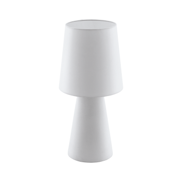 Настольная лампа Eglo Carpara 97131, 2xE27x12W, белый, текстиль