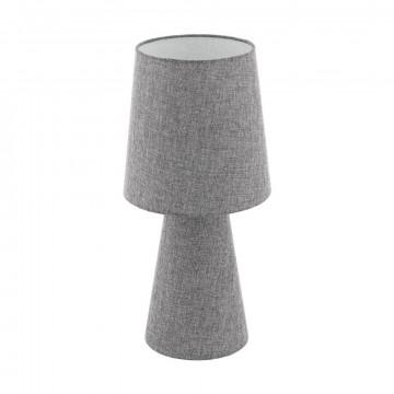 Настольная лампа Eglo Carpara 97132, 2xE27x12W, серый, текстиль