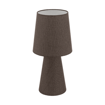 Настольная лампа Eglo Carpara 97133, 2xE27x12W, коричневый, текстиль