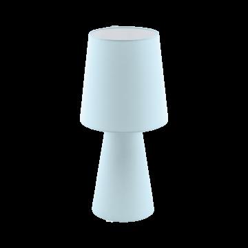 Настольная лампа Eglo Carpara 97432, 2xE27x12W, голубой, текстиль