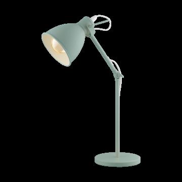 Настольная лампа Eglo Priddy-P 49097, 1xE27x40W, зеленый, металл