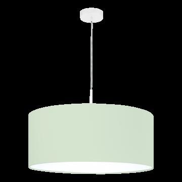 Подвесной светильник Eglo Pasteri-P 97378, 1xE27x60W, белый, зеленый, металл, текстиль