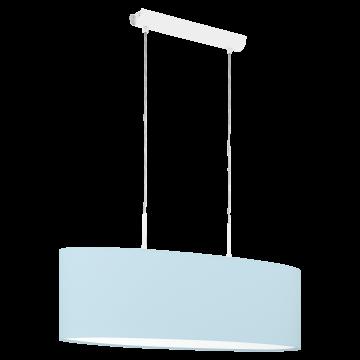 Подвесной светильник Eglo Pasteri-P 97387, 2xE27x60W, белый, голубой, металл, текстиль