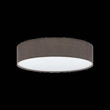 Потолочный светильник Eglo Pasteri 97614, 3xE27x60W, белый, коричневый, металл, текстиль, пластик