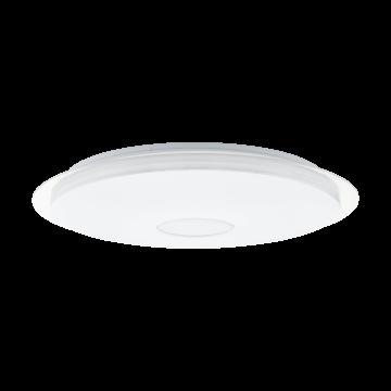 Потолочный светодиодный светильник с пультом ДУ Eglo Lanciano 97737, LED 40W 4000lm, белый, металл, пластик