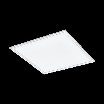 Светодиодная панель для встраиваемого или накладного монтажа с пультом ДУ Eglo Salobrena-RGBw 33107, LED 21W 4000K + RGB 2400lm CRI>80, белый, металл с пластиком, пластик