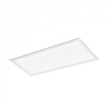 Светодиодная панель для встраиваемого или накладного монтажа с пультом ДУ Eglo Salobrena-Rgbw 33108, LED 21W 4000K + RGB 2400lm CRI>80, белый, металл с пластиком, пластик
