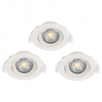 Встраиваемый светодиодный светильник Eglo Sartiano 32896, LED 5W 3000K 470lm, белый, пластик