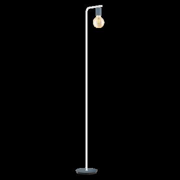 Торшер Eglo Adri-P 49124, 1xE27x60W, белый, синий, металл