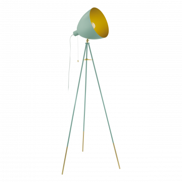 Торшер Eglo Chester-P 49048, 1xE27x60W, зеленый, матовое золото, металл