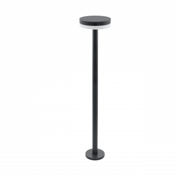 Уличный светодиодный фонарь Eglo Mazzini 97145, IP44, LED 11W 3000K 950lm, серый, металл, металл со стеклом/пластиком, пластик