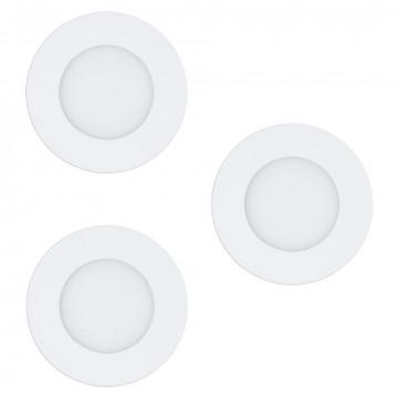 Светодиодная панель с пультом ДУ Eglo Connect Fueva-C 32881, LED 3W 2700-6500K + RGB 360lm, белый, металл с пластиком, пластик