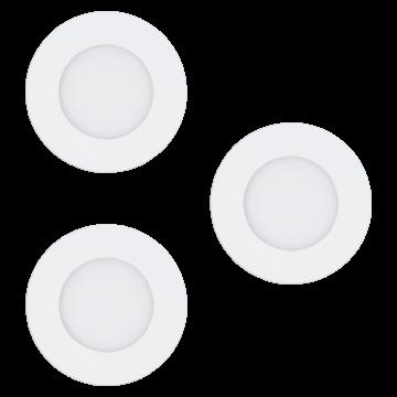 Встраиваемая светодиодная панель с пультом ДУ Eglo Fueva-C 32881, LED 3W, белый, металл, пластик