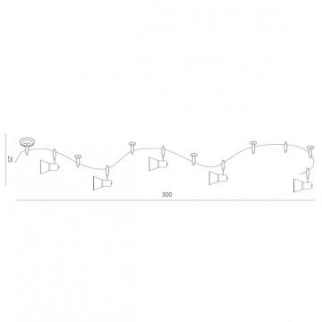 Схема с размерами Arte Lamp Instyle A3057PL-6WH
