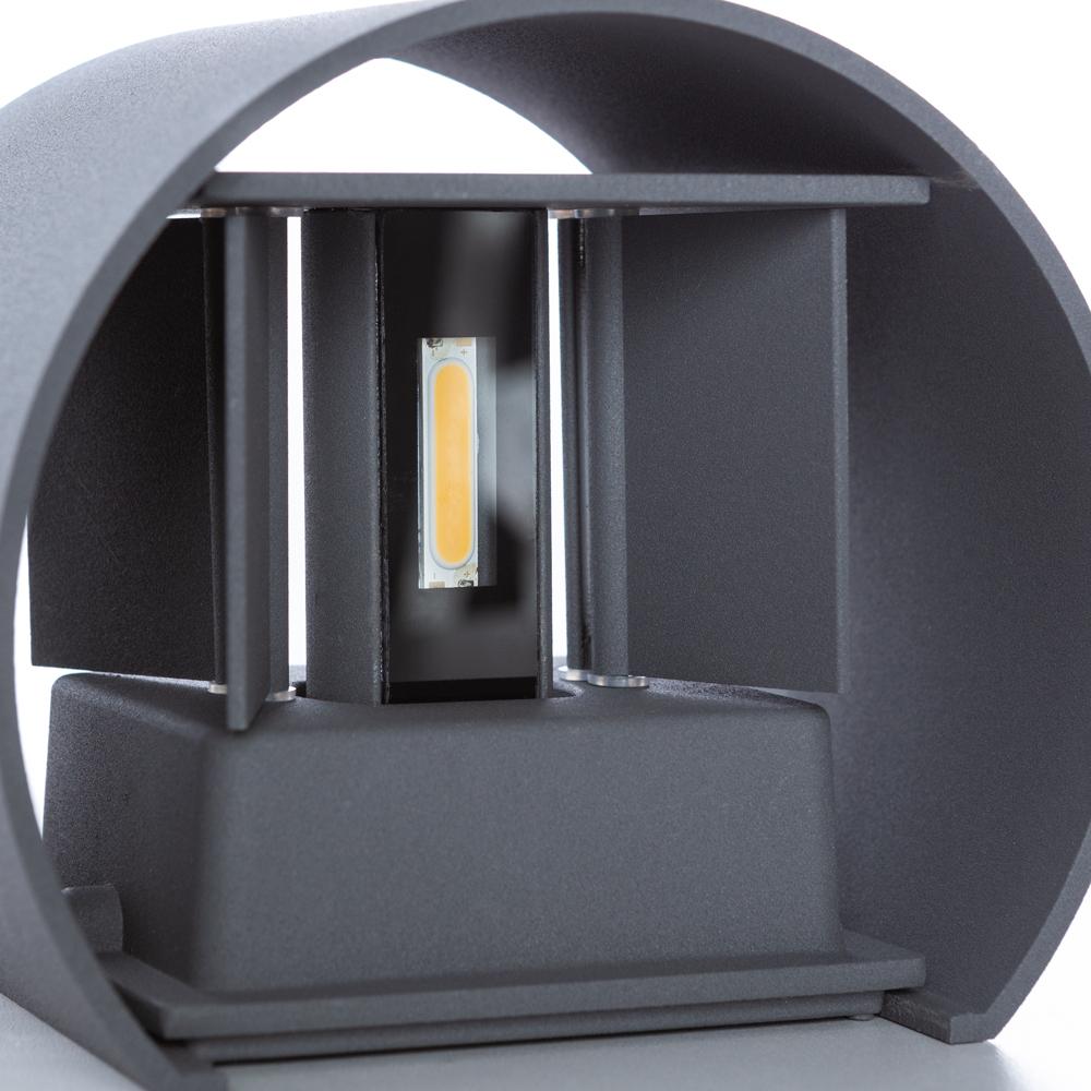 Настенный светодиодный светильник Arte Lamp Instyle Rullo A1415AL-1GY, IP54, LED 6W 3000K 600lm CRI≥80, серый, металл - фото 4