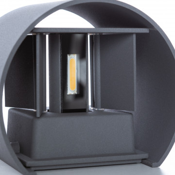 Настенный светодиодный светильник Arte Lamp Instyle Rullo A1415AL-1GY, IP54, LED 6W 3000K 600lm CRI≥80, серый, металл - миниатюра 5