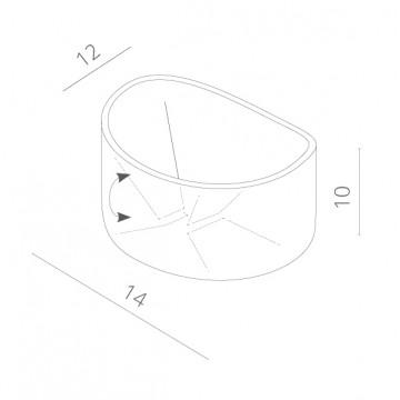 Схема с размерами Arte Lamp Instyle A1415AL-1GY