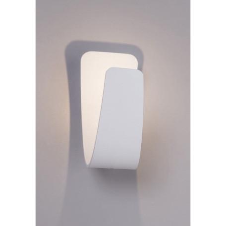 Настенный светодиодный светильник Arte Lamp Instyle Virgola A1418AP-1WH, LED 5W 3000K 500lm CRI≥80, белый, металл