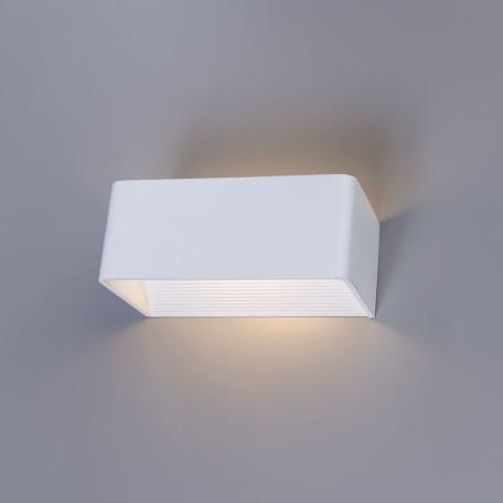 Настенный светодиодный светильник Arte Lamp Instyle Cassetta A1422AP-1WH 3000K (теплый), белый, металл