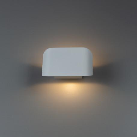 Настенный светодиодный светильник Arte Lamp Instyle Lucciola A1429AP-1WH, LED 3W 3000K 150lm CRI≥80, белый, металл