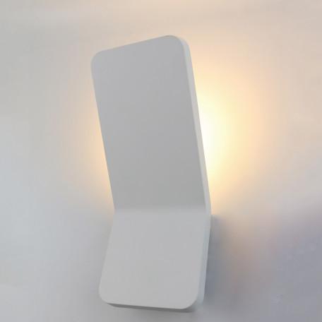 Настенный светодиодный светильник Arte Lamp Instyle Scorcio A8053AL-1WH, LED 6W 3000K 420lm CRI≥80, белый, металл