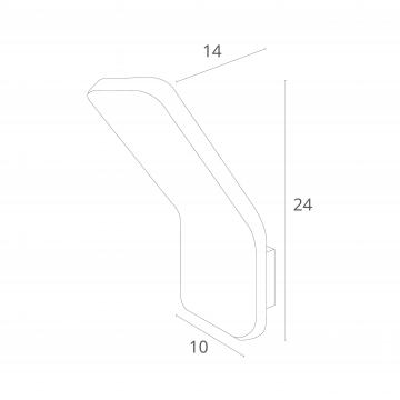 Схема с размерами Arte Lamp Instyle A8053AL-1WH