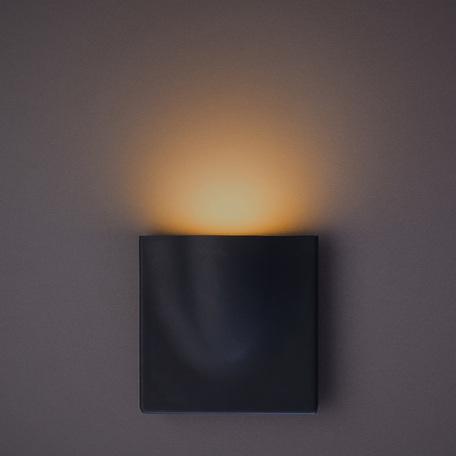 Настенный светодиодный светильник Arte Lamp Instyle Tasca A8506AL-1GY, IP54, LED 6W 3000K 290lm CRI≥80, темно-серый, металл