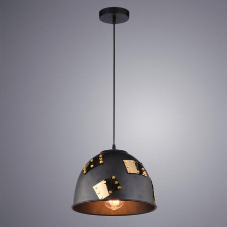 Подвесной светильник Arte Lamp Eurica A6023SP-1BK, 1xE27x60W, черный, черный с золотом, металл
