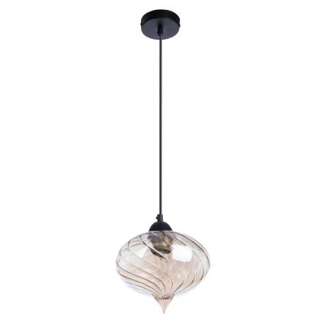 Подвесной светильник Arte Lamp Emozione A7171SP-1AM, 1xE27x40W, черный, янтарь, металл, стекло - миниатюра 1