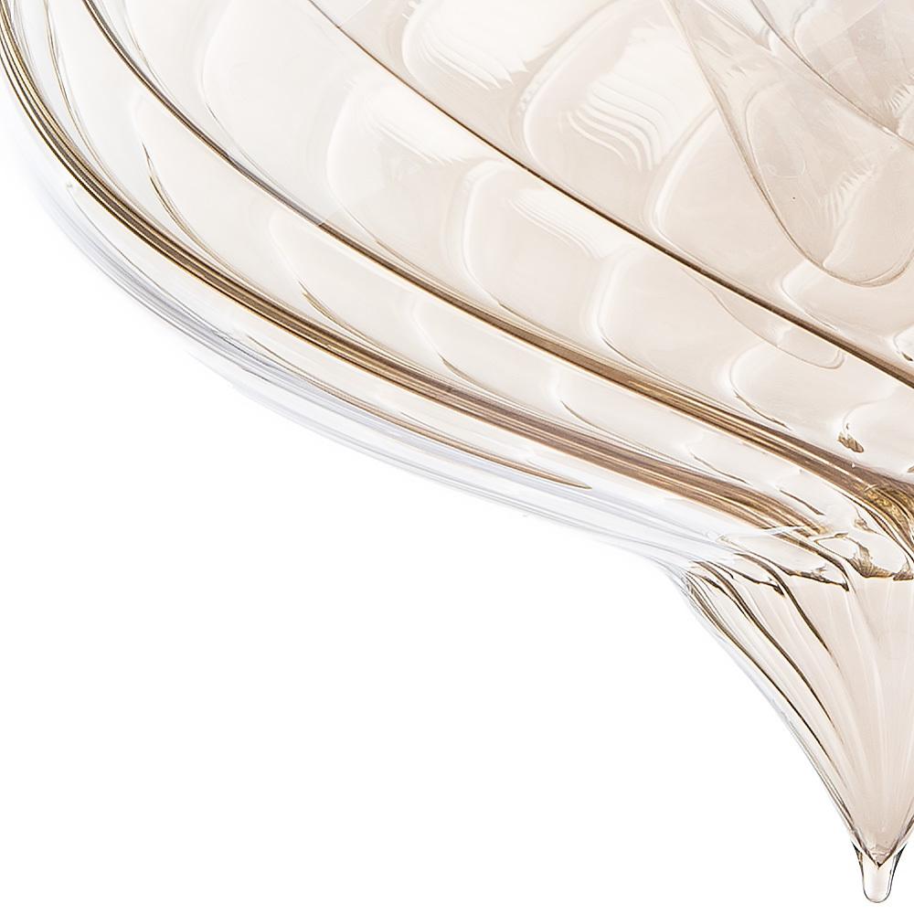 Подвесной светильник Arte Lamp Emozione A7171SP-1AM, 1xE27x40W, черный, янтарь, металл, стекло - фото 4