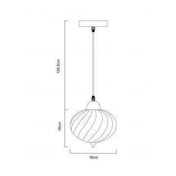 Схема с размерами Arte Lamp A7171SP-1AM