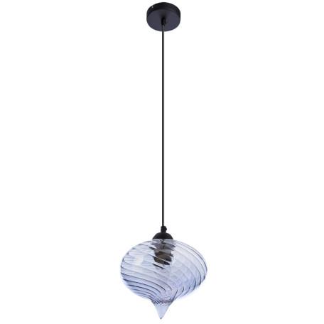 Подвесной светильник Arte Lamp Emozione A7171SP-1SM, 1xE27x40W, черный, дымчатый, металл, стекло
