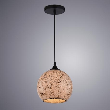 Подвесной светильник Arte Lamp Mosaic A8074SP-1BK, 1xE27x40W, черный, янтарь, металл, стекло
